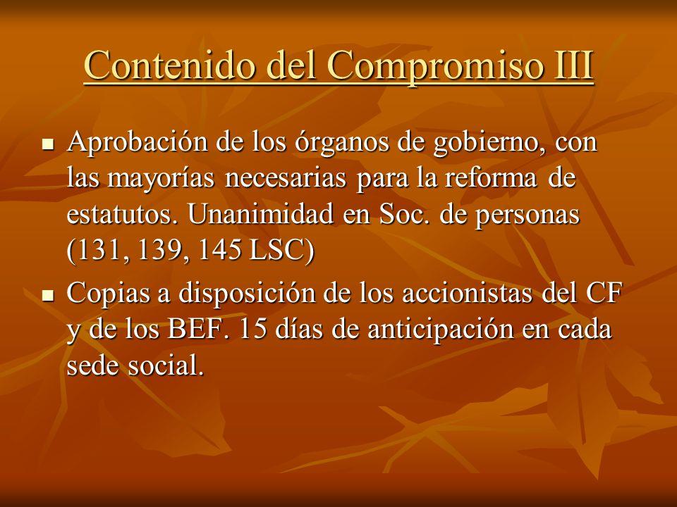 Contenido del Compromiso III