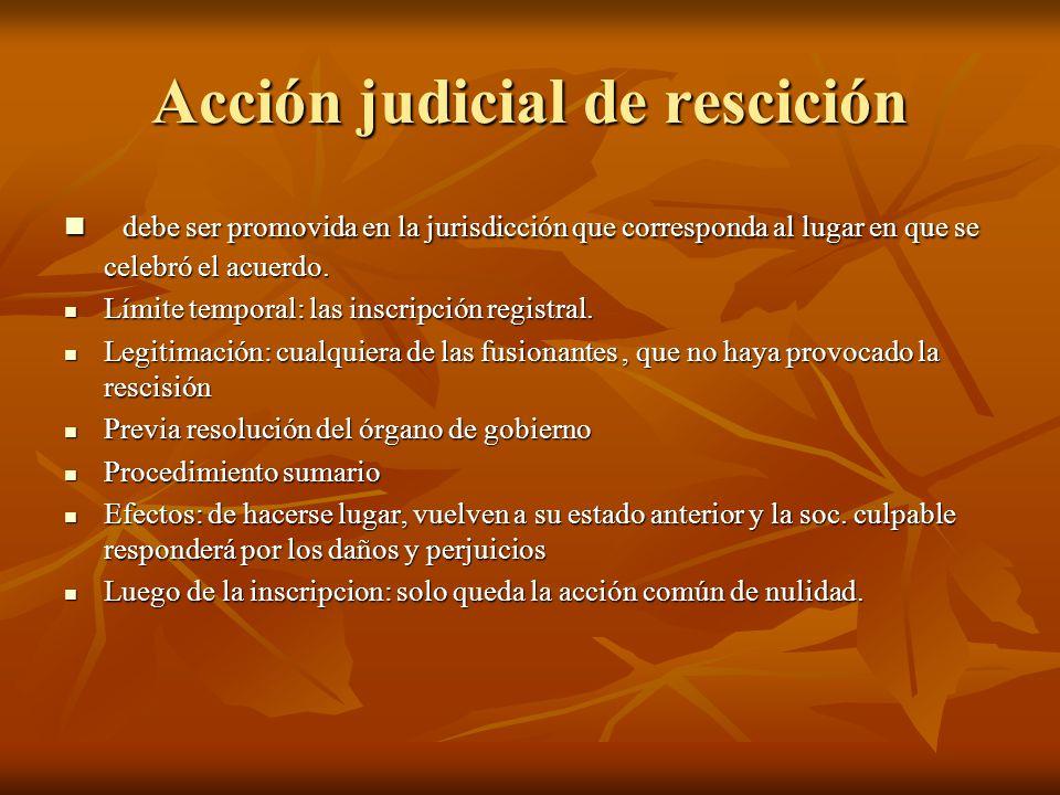 Acción judicial de rescición