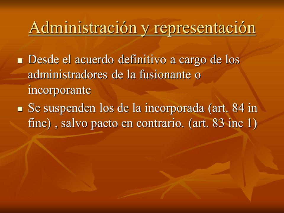 Administración y representación