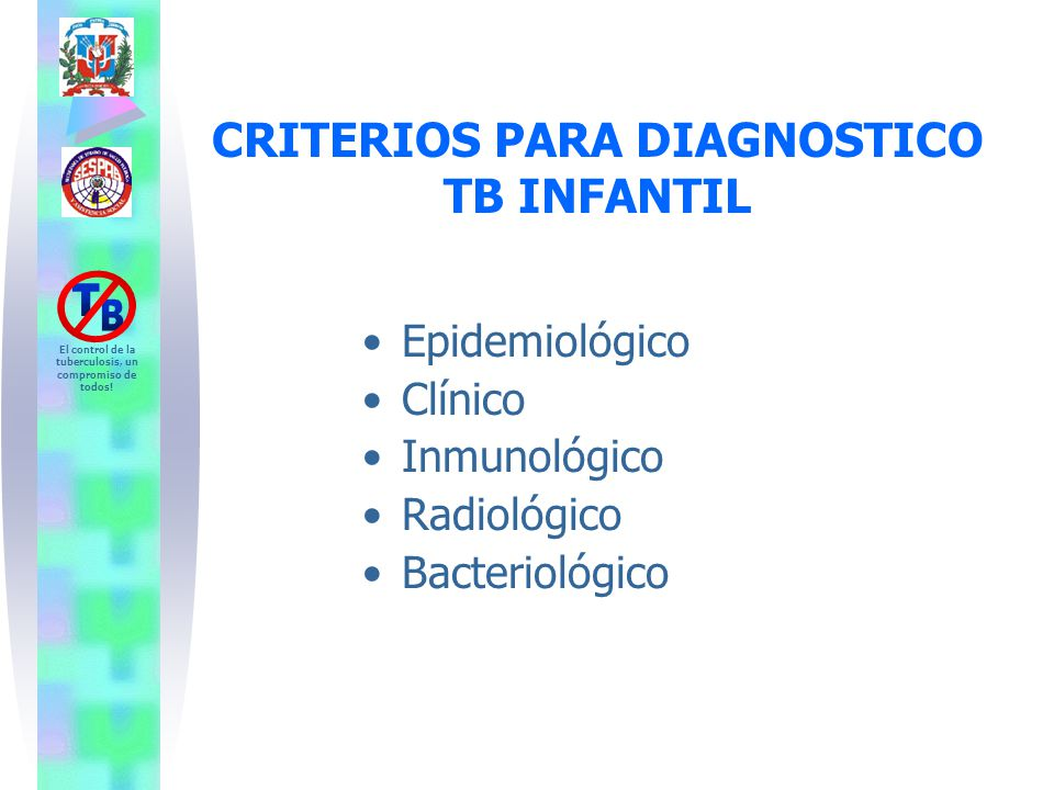 CRITERIOS PARA DIAGNOSTICO TB INFANTIL