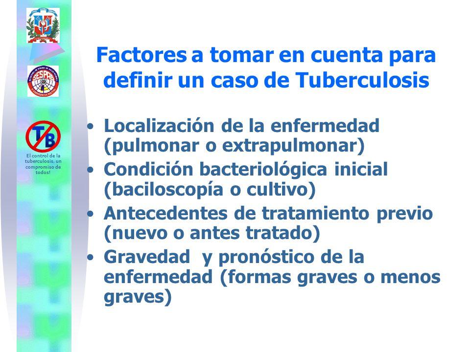 Factores a tomar en cuenta para definir un caso de Tuberculosis