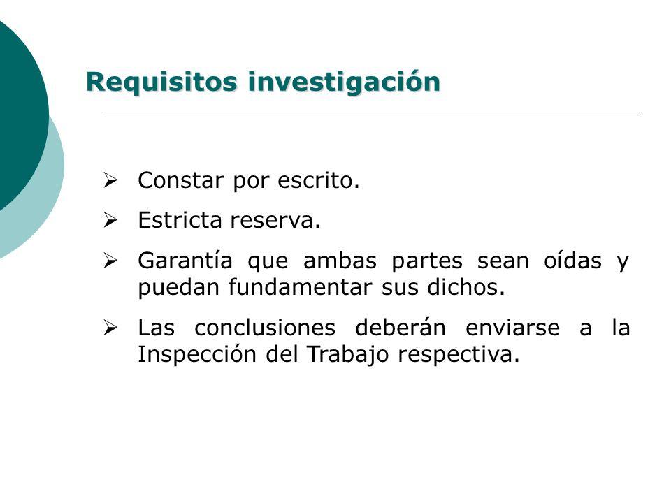 Requisitos investigación