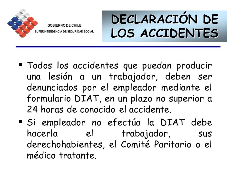 DECLARACIÓN DE LOS ACCIDENTES