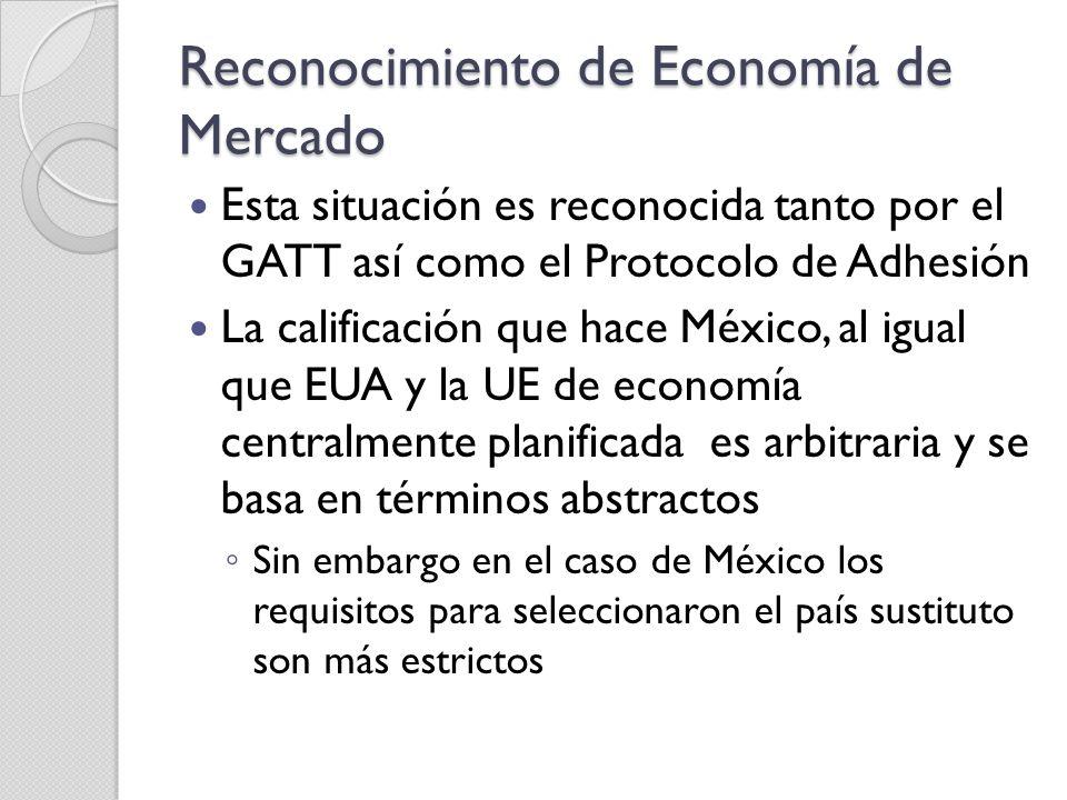 Reconocimiento de Economía de Mercado