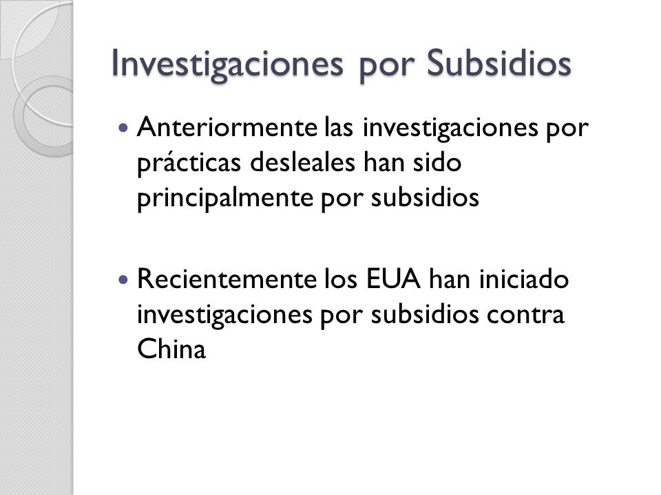 Investigaciones por Subsidios
