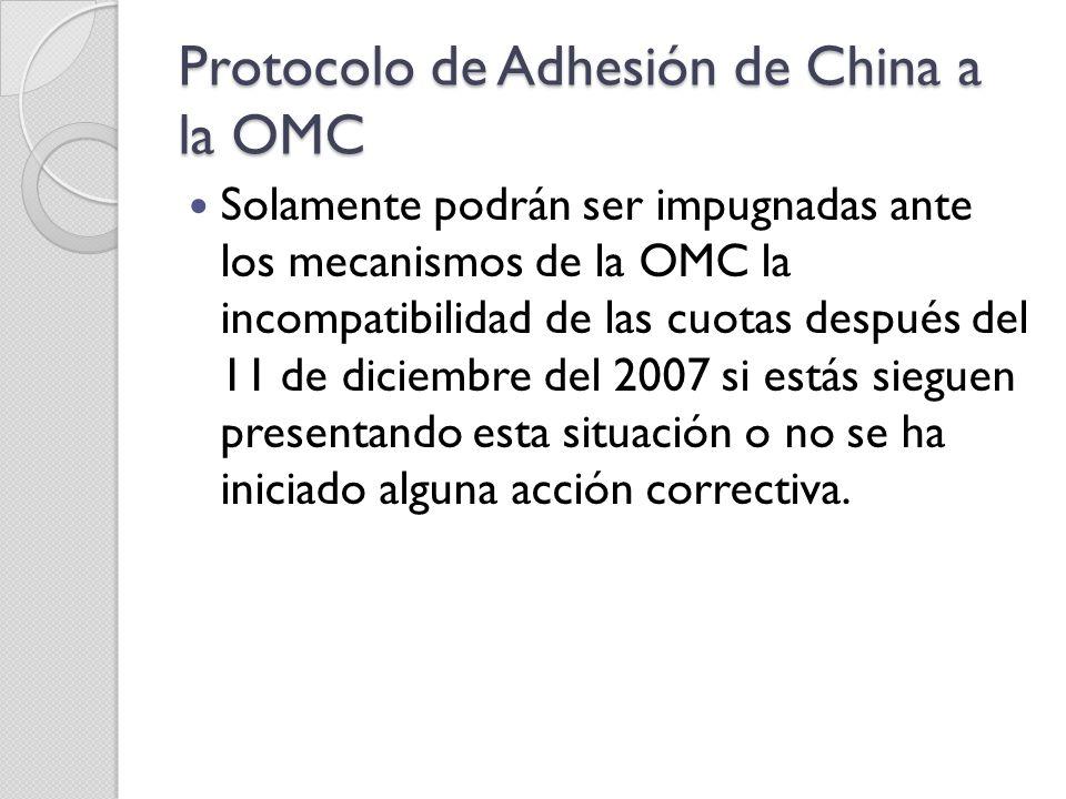 Protocolo de Adhesión de China a la OMC
