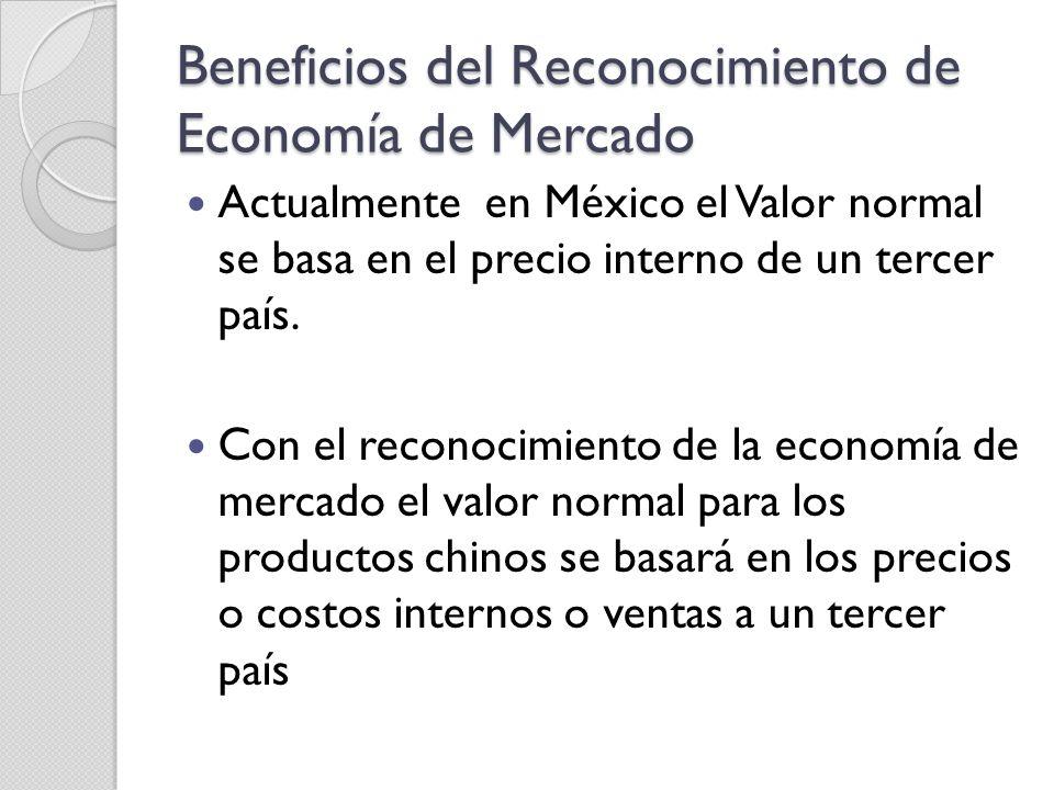 Beneficios del Reconocimiento de Economía de Mercado