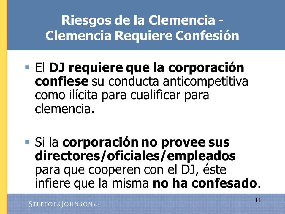 Riesgos de la Clemencia - Clemencia Requiere Confesión