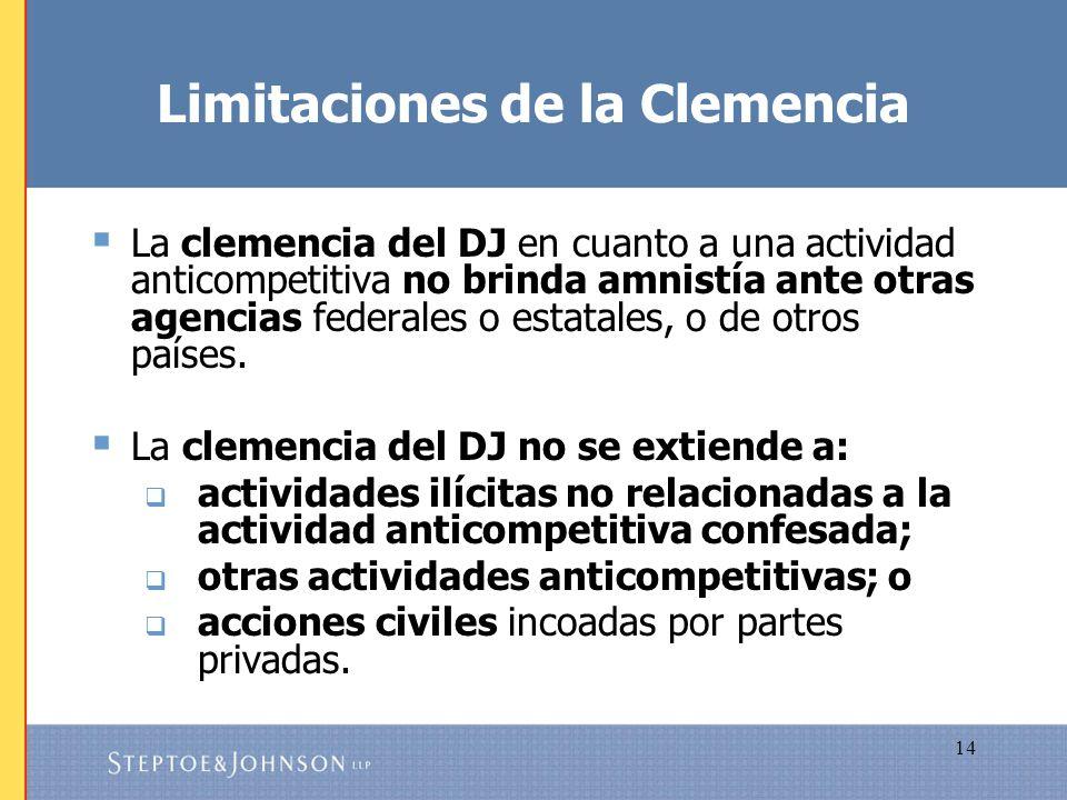 Limitaciones de la Clemencia