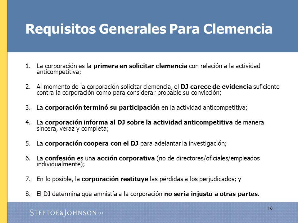 Requisitos Generales Para Clemencia