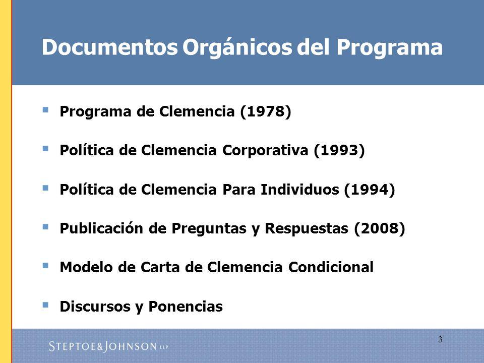 Documentos Orgánicos del Programa