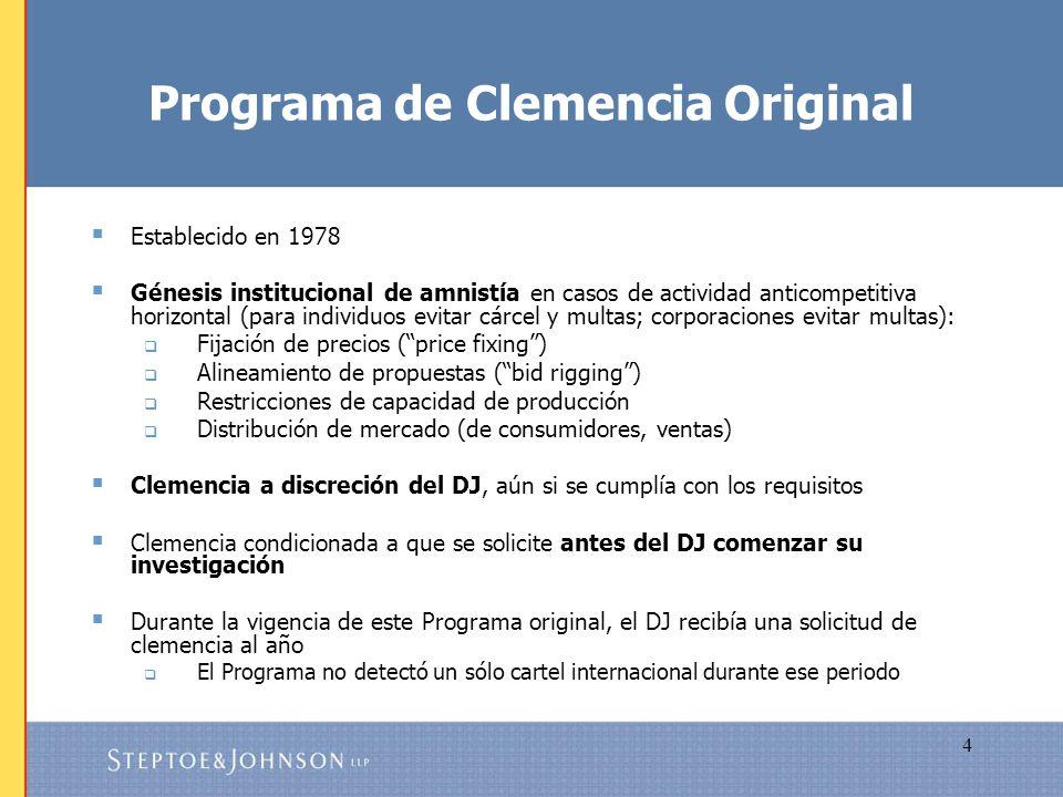 Programa de Clemencia Original