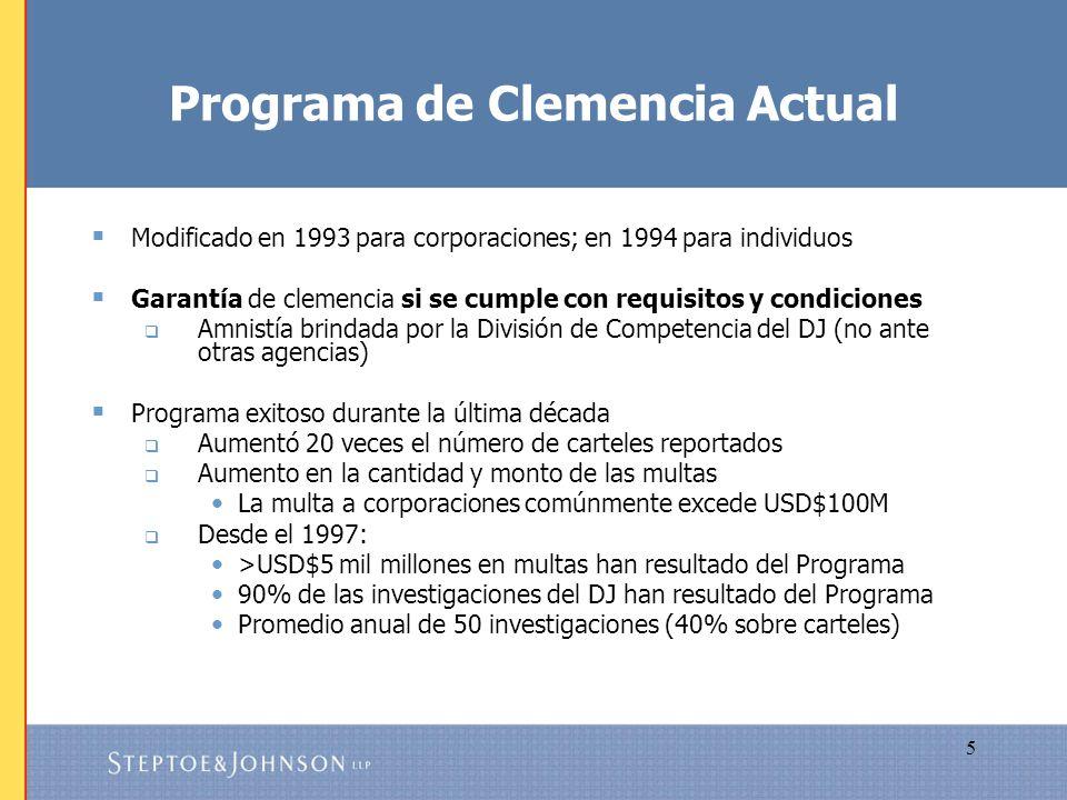 Programa de Clemencia Actual