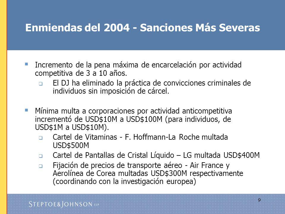 Enmiendas del 2004 - Sanciones Más Severas
