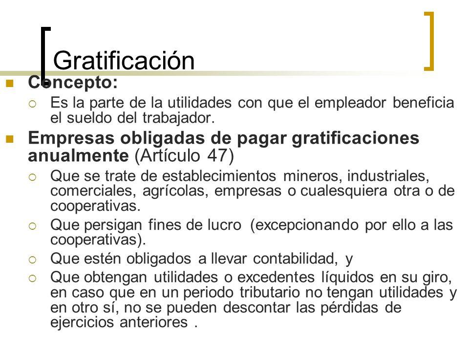 Gratificación Concepto: