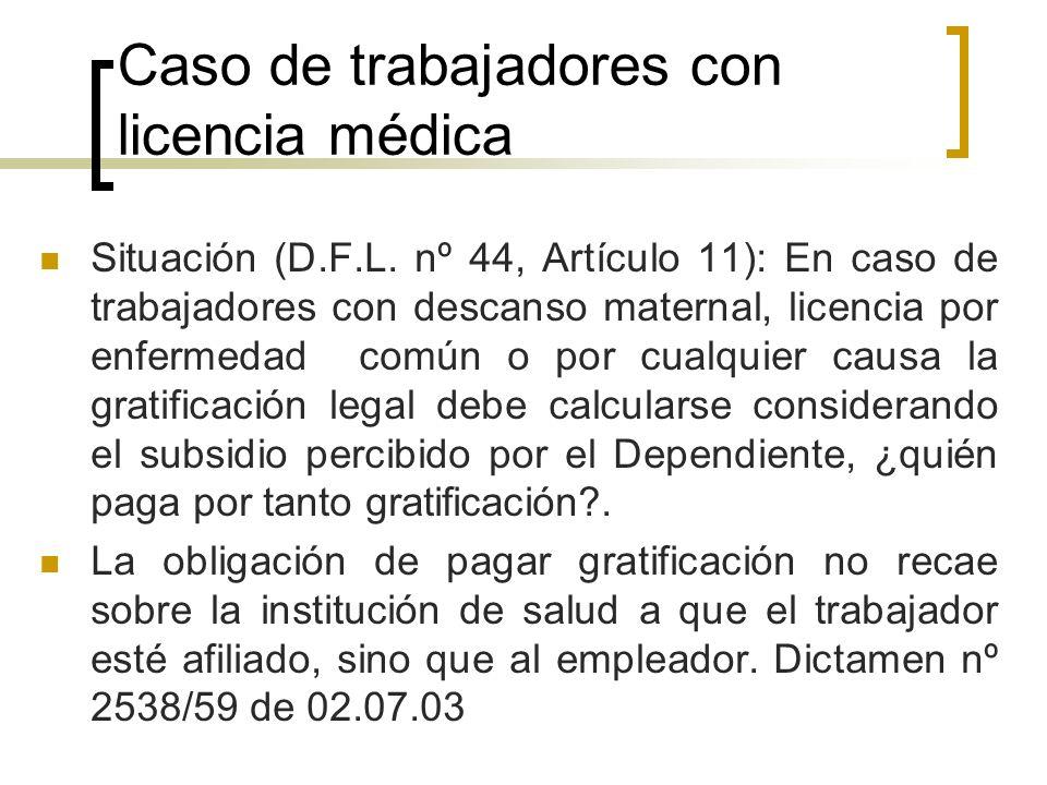 Caso de trabajadores con licencia médica