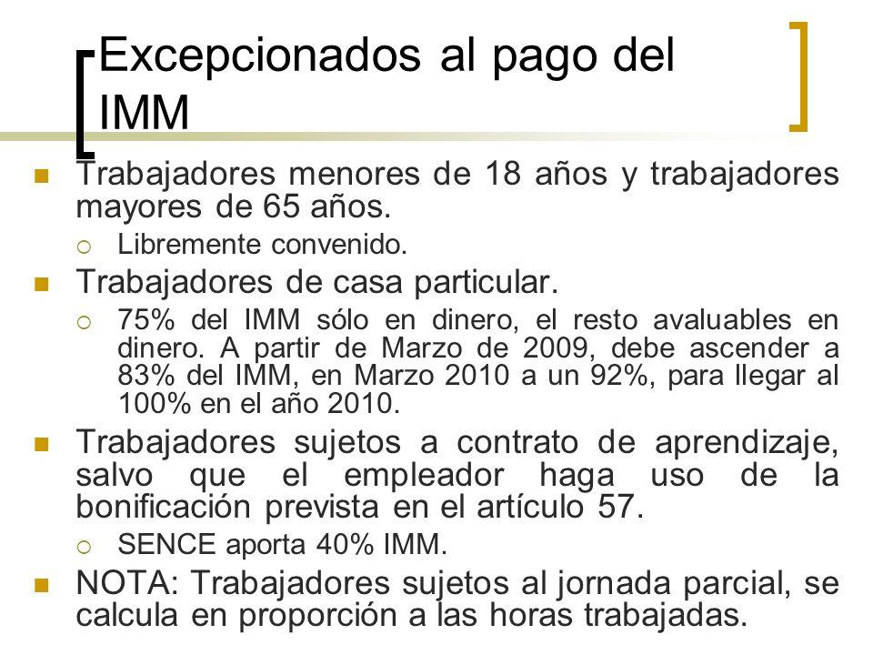 Excepcionados al pago del IMM