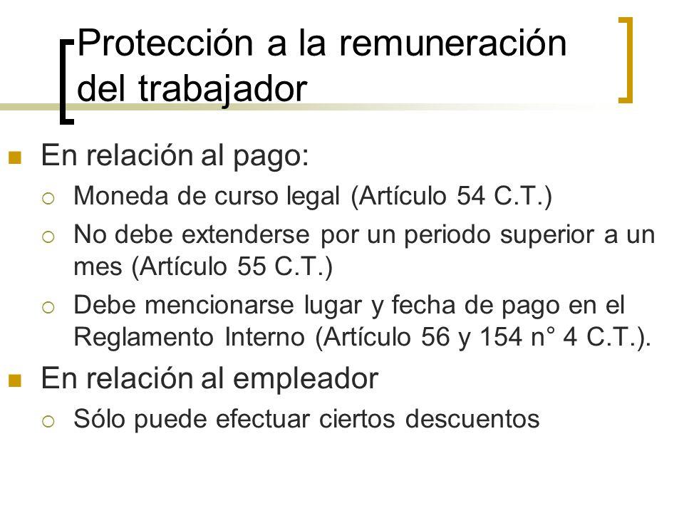 Protección a la remuneración del trabajador