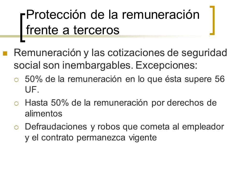 Protección de la remuneración frente a terceros
