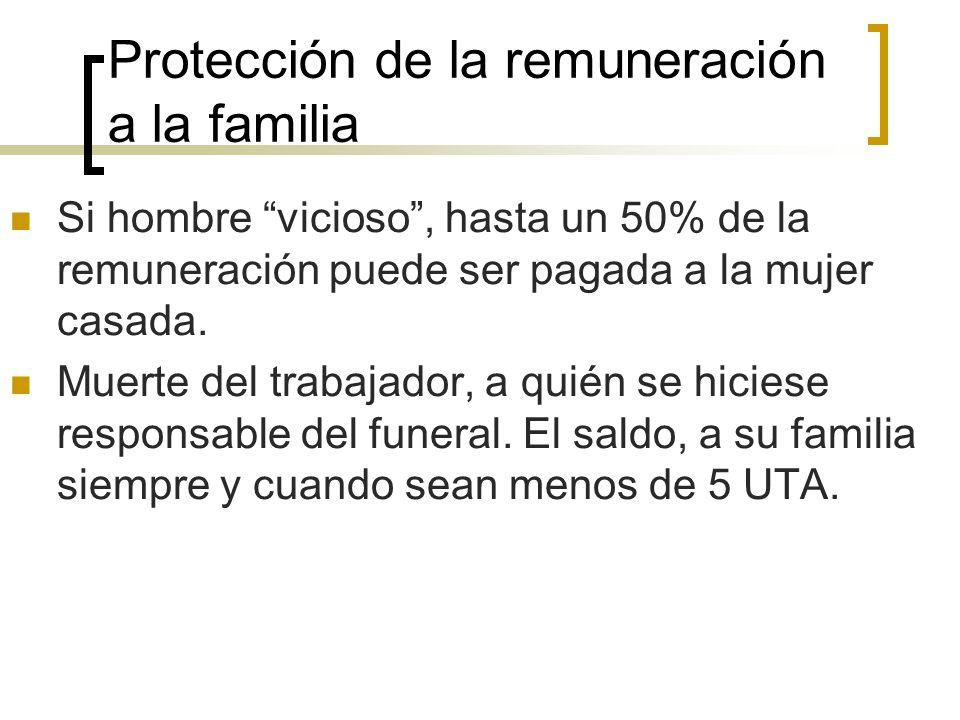 Protección de la remuneración a la familia