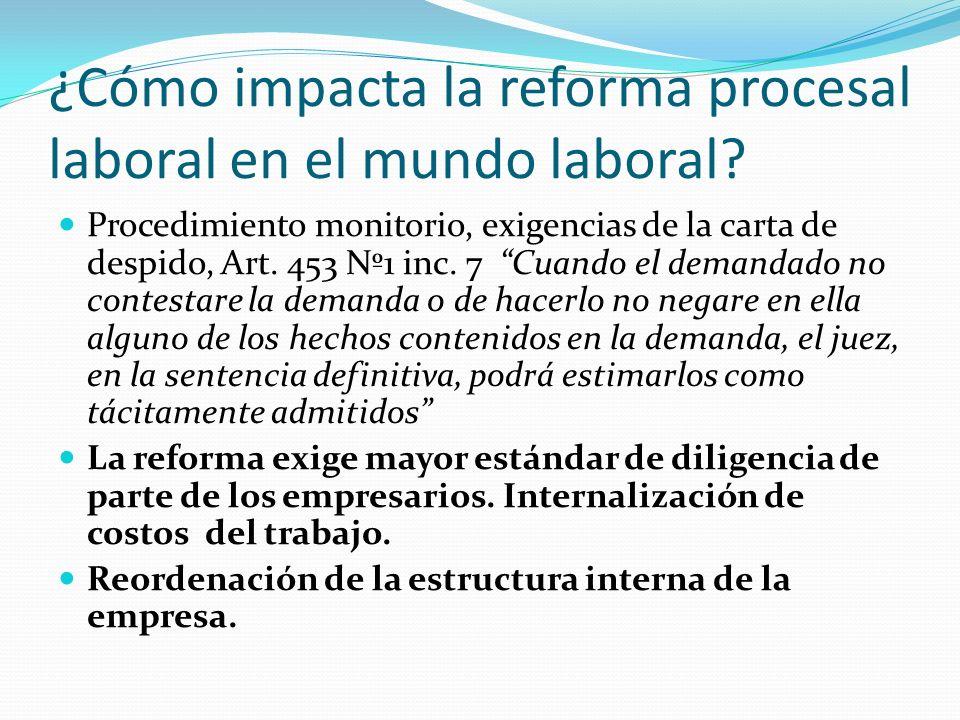¿Cómo impacta la reforma procesal laboral en el mundo laboral