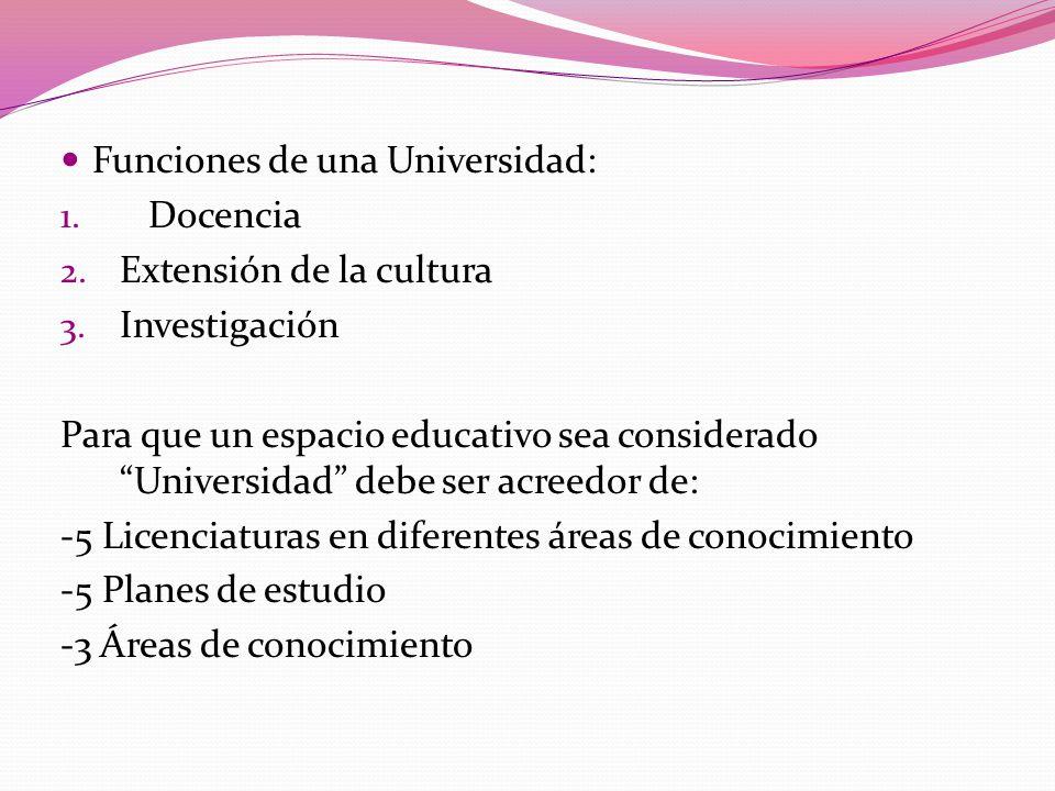 Funciones de una Universidad: