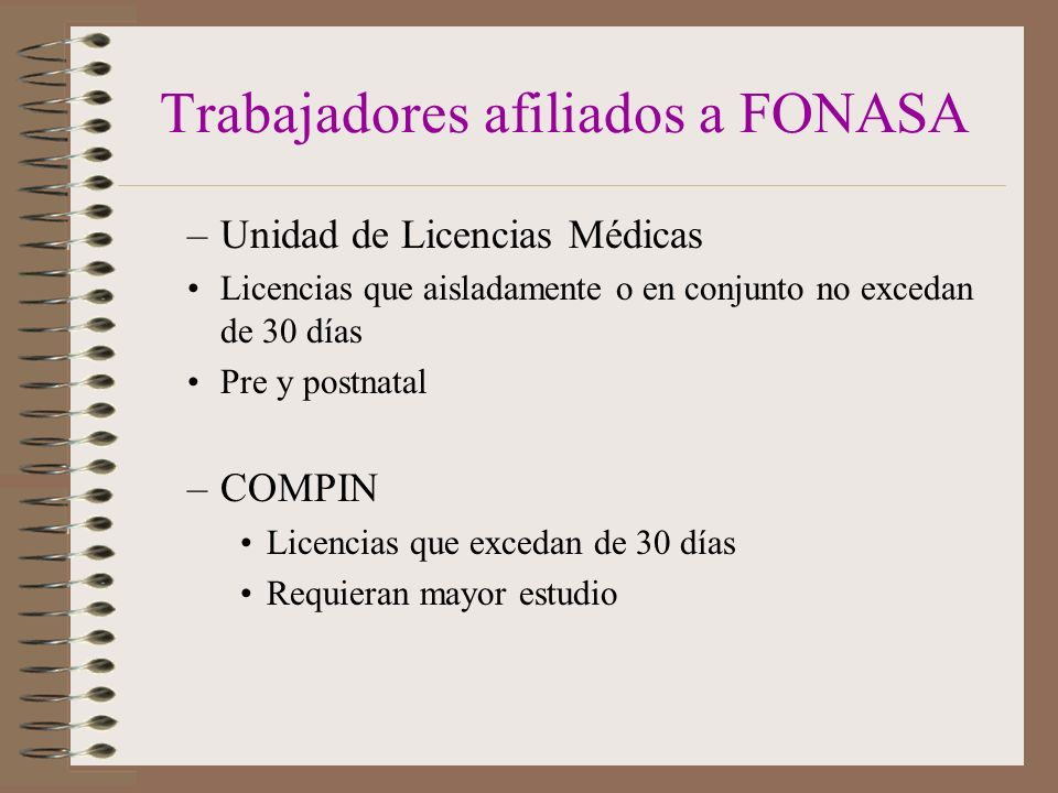 Trabajadores afiliados a FONASA