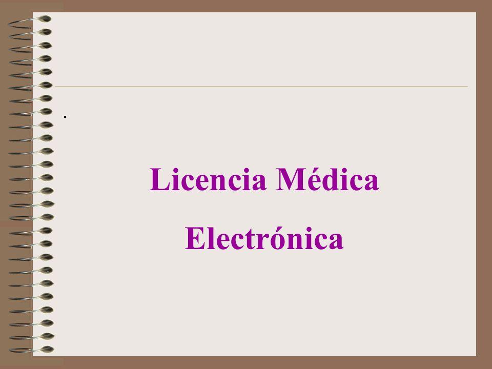 Licencia Médica Electrónica