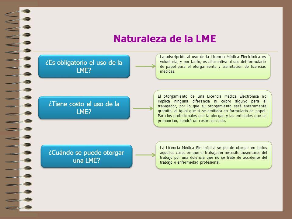 Naturaleza de la LME ¿Es obligatorio el uso de la LME
