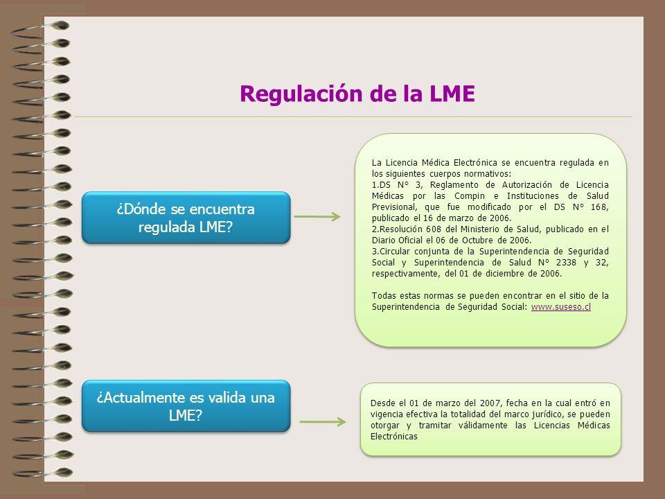 Regulación de la LME ¿Dónde se encuentra regulada LME