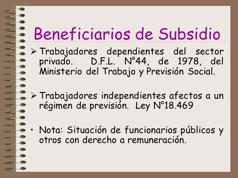 Beneficiarios de Subsidio
