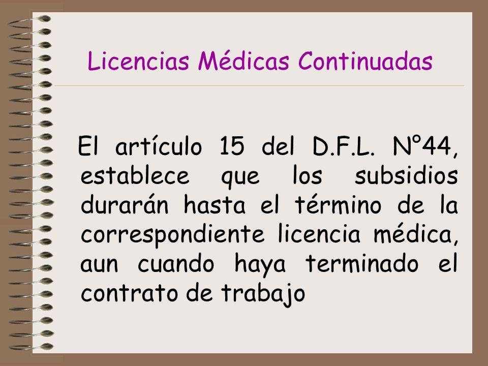 Licencias Médicas Continuadas