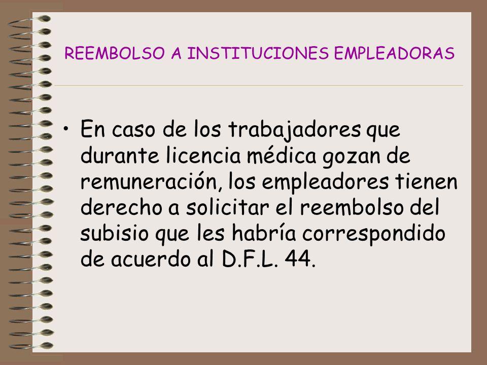 REEMBOLSO A INSTITUCIONES EMPLEADORAS
