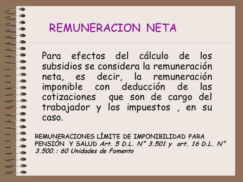REMUNERACION NETA