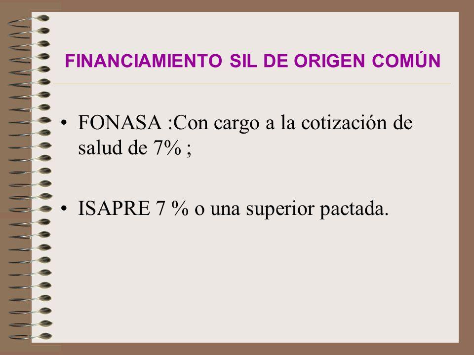FINANCIAMIENTO SIL DE ORIGEN COMÚN