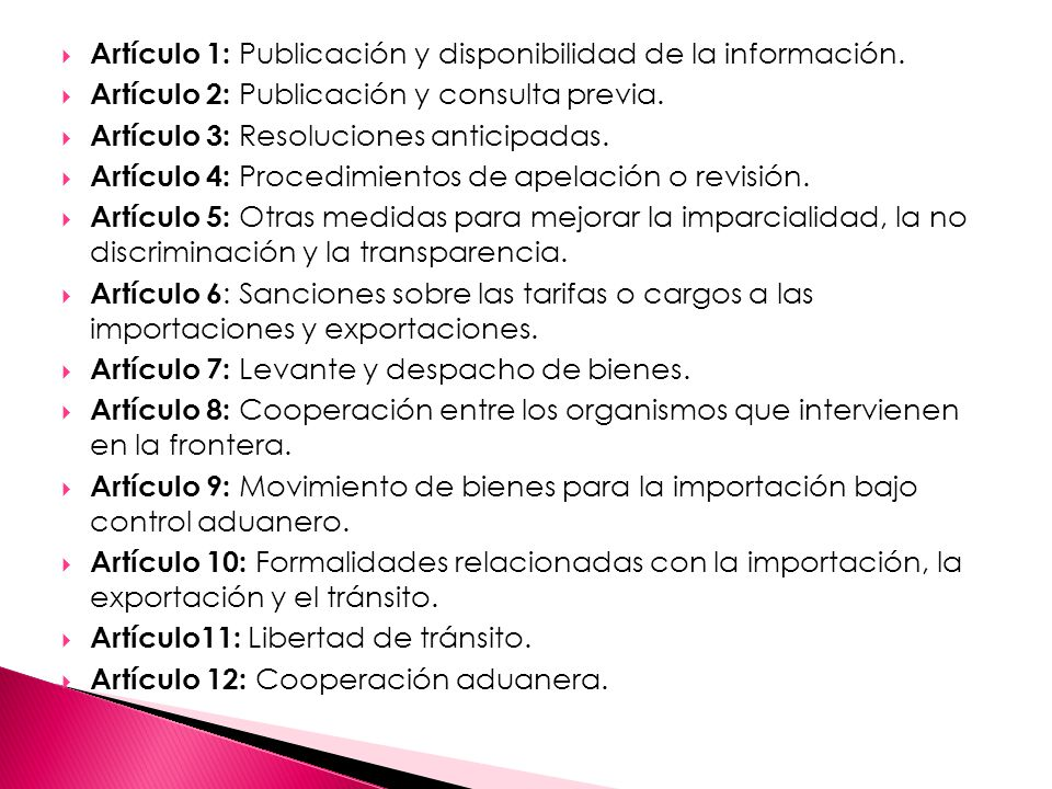 Artículo 1: Publicación y disponibilidad de la información.
