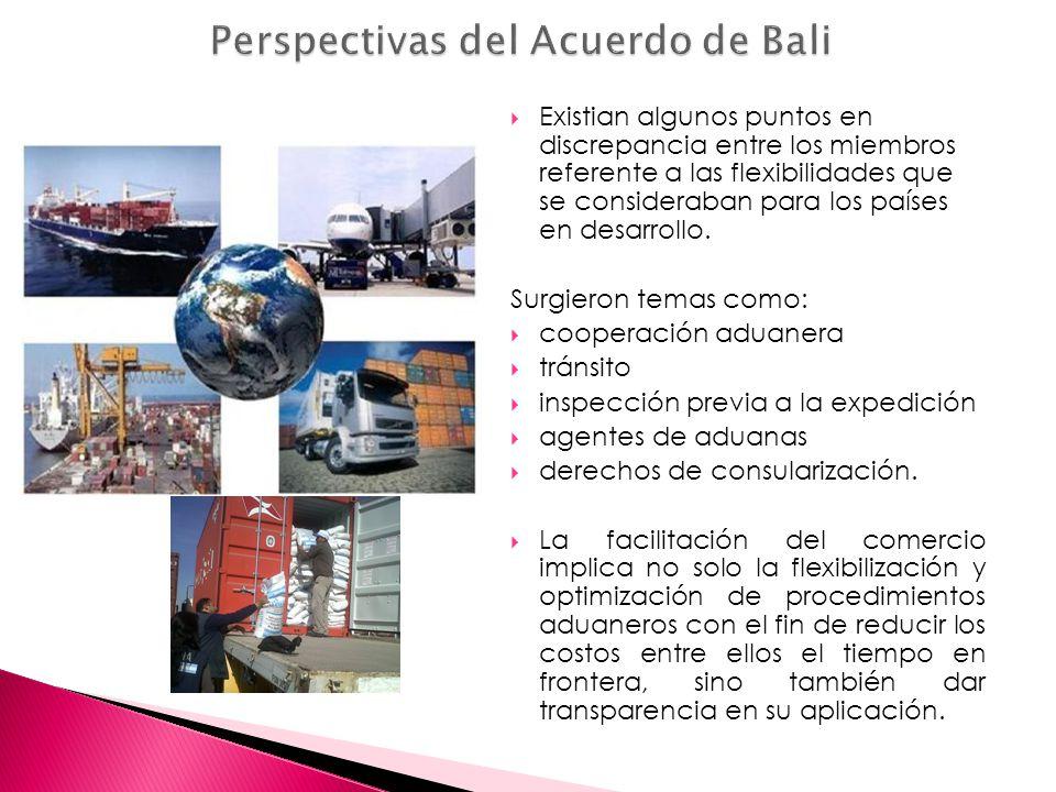 Perspectivas del Acuerdo de Bali