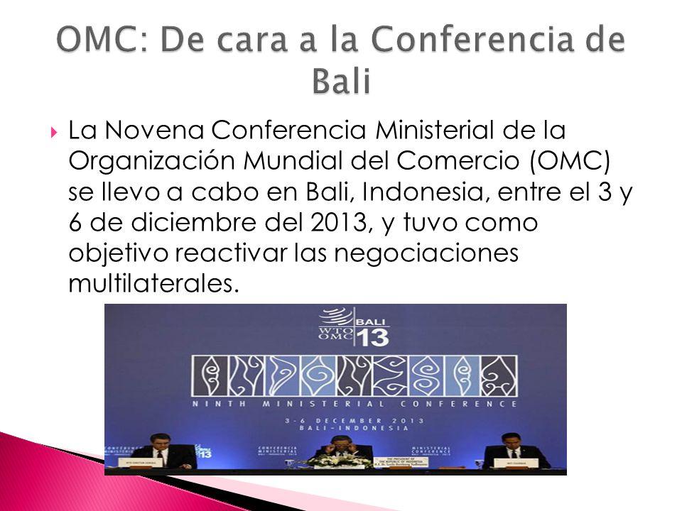 OMC: De cara a la Conferencia de Bali