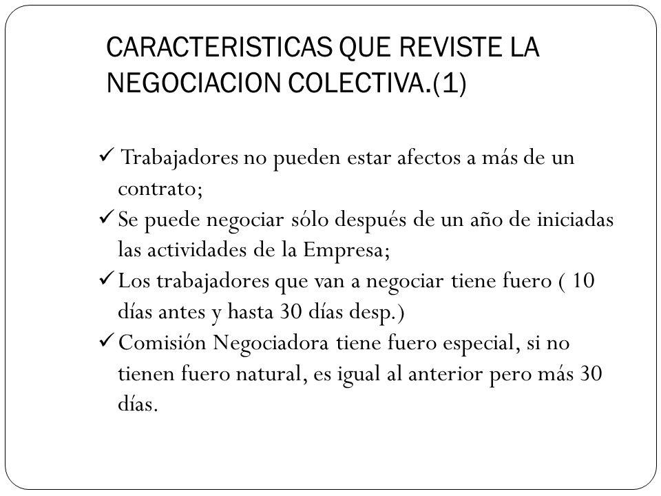 CARACTERISTICAS QUE REVISTE LA NEGOCIACION COLECTIVA.(1)