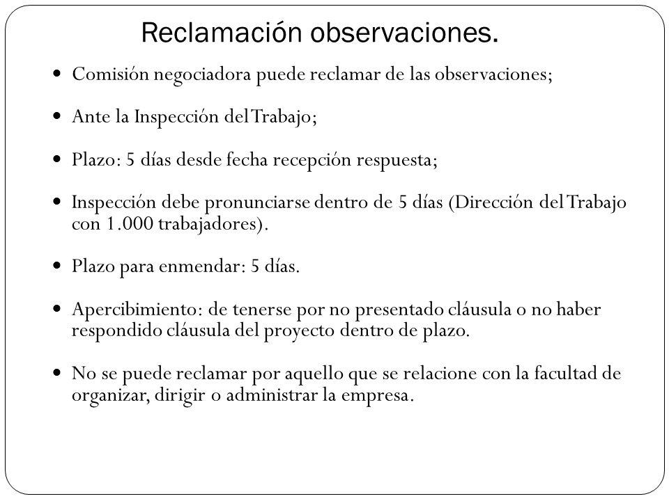Reclamación observaciones.
