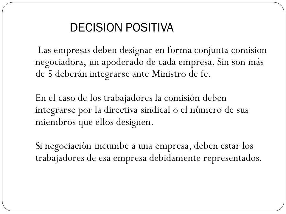 DECISION POSITIVA