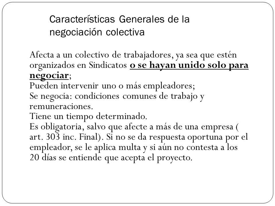 Características Generales de la negociación colectiva