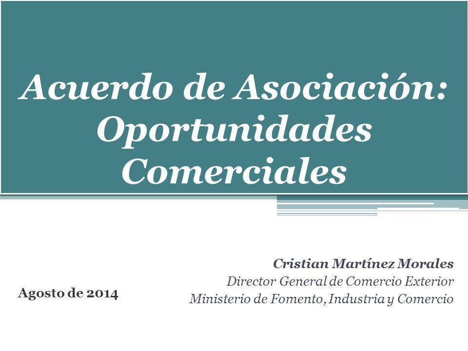 Acuerdo de Asociación: Oportunidades Comerciales