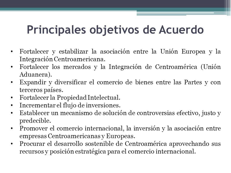 Principales objetivos de Acuerdo