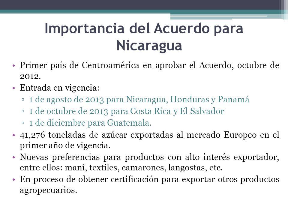 Importancia del Acuerdo para Nicaragua