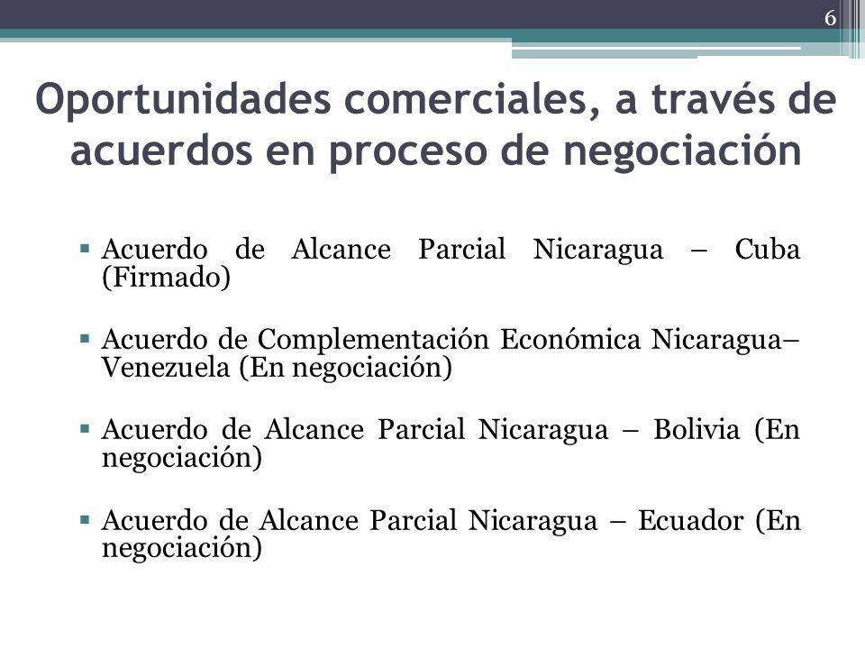 Oportunidades comerciales, a través de acuerdos en proceso de negociación