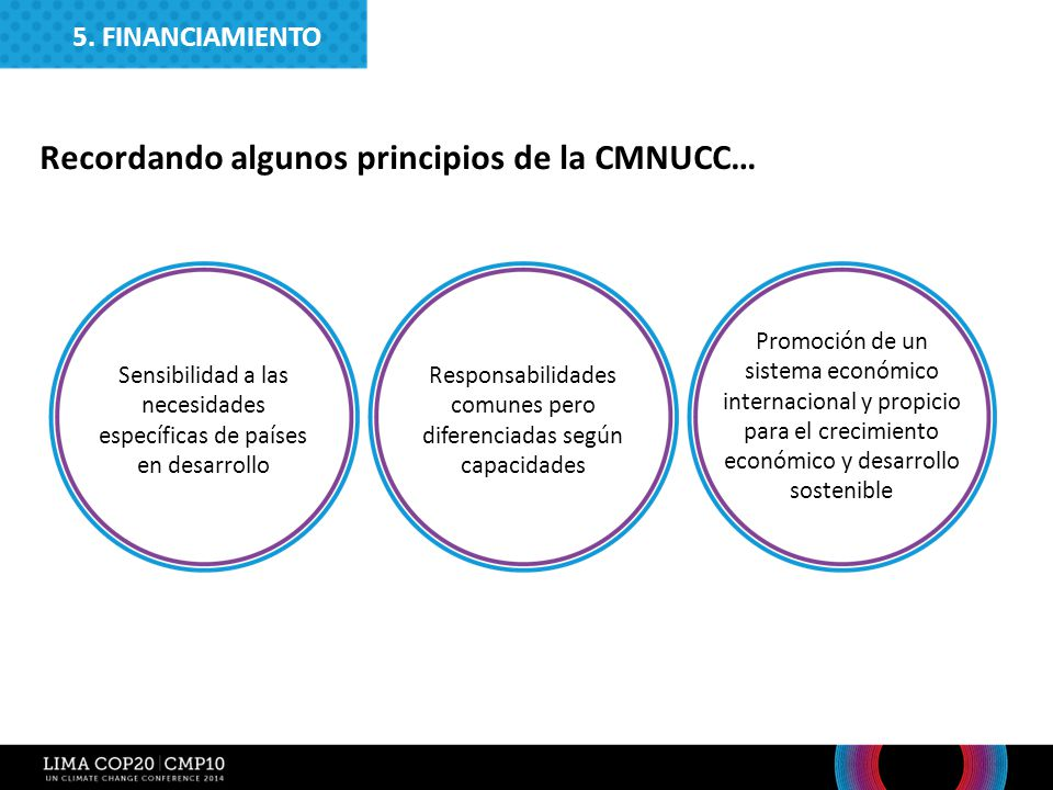 Recordando algunos principios de la CMNUCC…