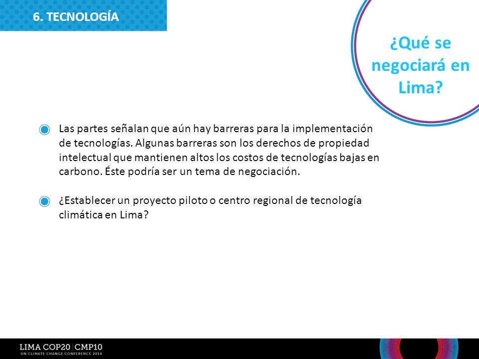 ¿Qué se negociará en Lima