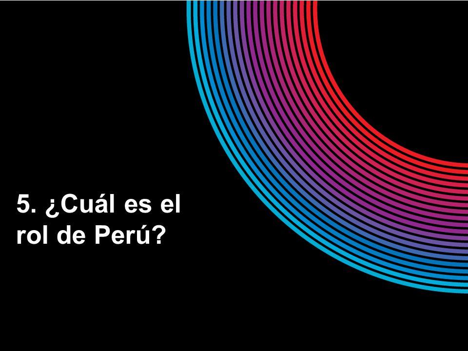 5. ¿Cuál es el rol de Perú