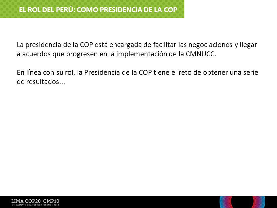 El Rol del Perú: Como Presidencia de la COP